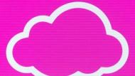 Cloud-Symbol auf der CeBIT: Datenspeicherdienste werden immer beliebter.