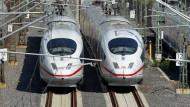 Die ICE-Flotte der Bahn wird nicht, wie geplant, vergrößert. Das könnte im Winter zu Problemen führen.