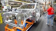 Die chinesischen Zölle gelten unter anderem auf amerikanische Autos.