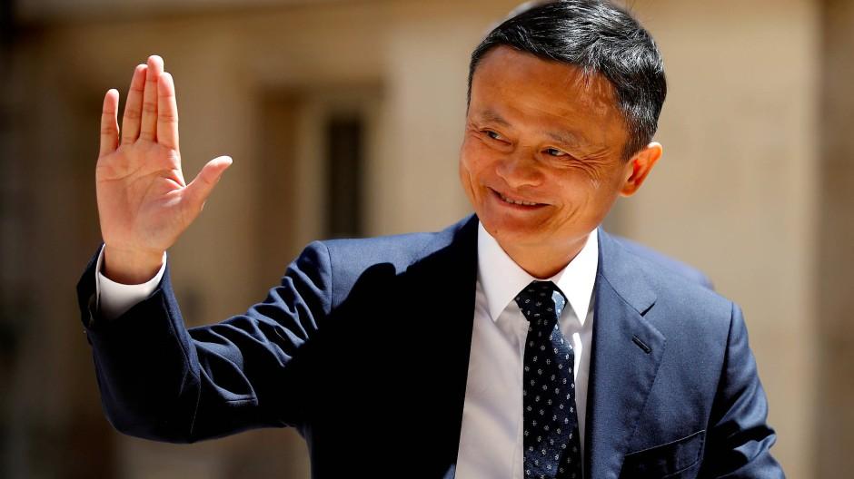 Die freudigen Zeiten scheinen vorüber: Ein strahlender Jack Ma auf einem Technik-Treffen in Paris im Mai 2019