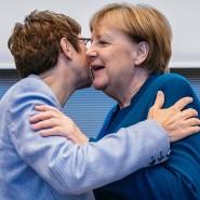 Wer führt die Partei: Kanzlerin Merkel (rechts) oder die Vorsitzende Kramp-Karrenbauer?