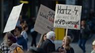 Im Bundestagswahlkampf wurde die SPD auch für die Hartz-Gesetze kritisiert.