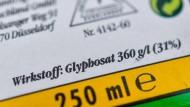 EU-Kommission will Glyphosat-Zulassung für 18 Monate verlängern