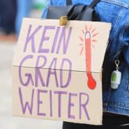 Auf einer Demonstration der Klimaschutzbewegung Fridays for Future
