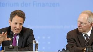 Geithner gratuliert zur deutschen Wirtschaftsstärke