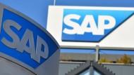Die Konzernzentrale des Software-Herstellers SAP in Walldorf bei Mannheim