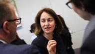 Justizministerin Katarina Barkey vor einem Treffen der SPD-Bundestagsfraktion an diesem Dienstag in Berlin.