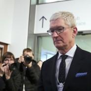 Tim Cook in Davos - er ist nicht der einzige Tech-Chef, der dieses Jahr dort ist.