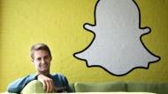 Hat gut lachen: Snapchat-Gründer Evan Spiegel