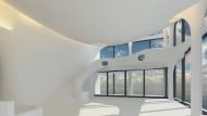Kein Eispalast, sondern das mit Modulen gebaute Penthouse.