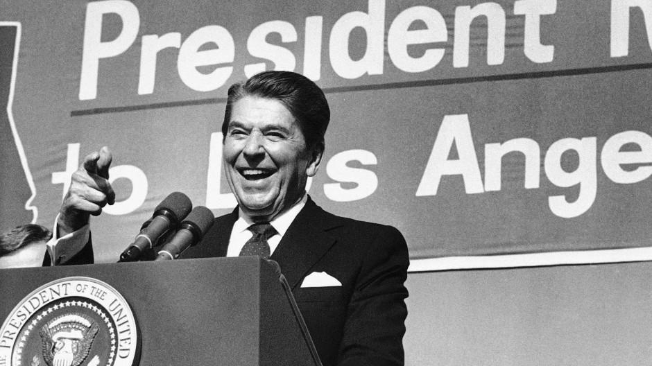 Ronald Reagan 1984 bei einer Veranstaltung in Los Angeles