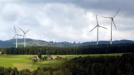 Ein gewohnter Anblick: Windräder in deutschen Walden