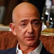 Amazon-Chef Jeff Bezos war am Donnerstagabend im Wirtschafts-Klub in New York zu Gast.