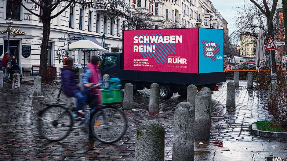 Werbemotiv für die Imagekampagne im Ruhrgebiet