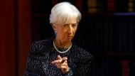 """Christine Lagarde ist an diesem Mittwoch in Europas """"Hauptstadt"""" Brüssel."""