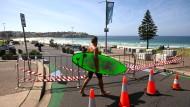 Auch der bekannte Bondi Beach wurde abgesperrt.