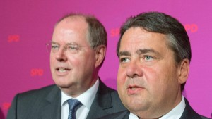 Gabriel widerspricht Steinbrück bei Pensionen