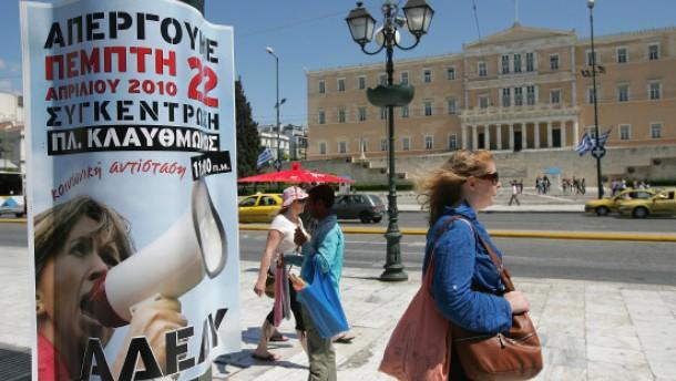 Griechen kaufen weniger deutsch