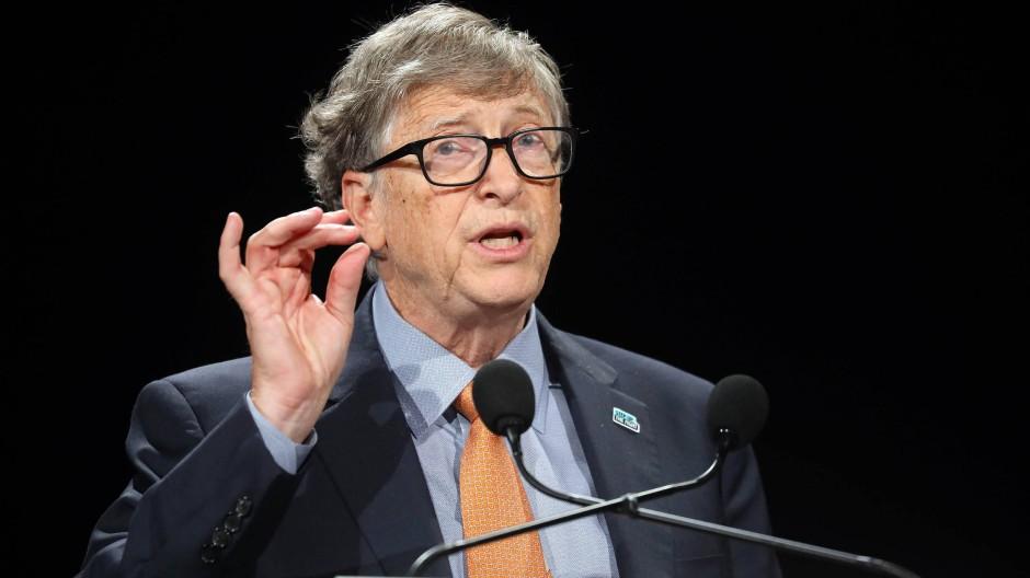 Bill Gates auf einer Konferenz im Jahr 2019