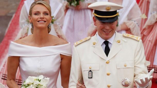 Albert und Charlene sind kirchlich verheiratet