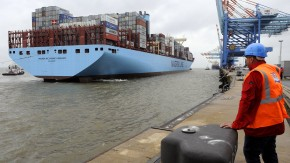 Weltgrößtes Containerschiff in Bremerhaven