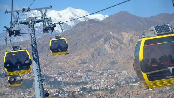 La Paz baut weltweit größtes innerstädtisches Seilbahnnetz