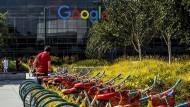 Google-Campus in Mountain View: Die Sonne scheint - trotz Facebook.