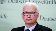 Umwelthilfe-Chef Jürgen Resch während einer Pressekonferenz an diesem Montag in Berlin.