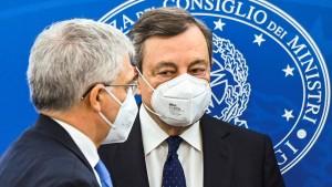 Draghi kämpft an zwei Fronten für Italiens Aufbauplan