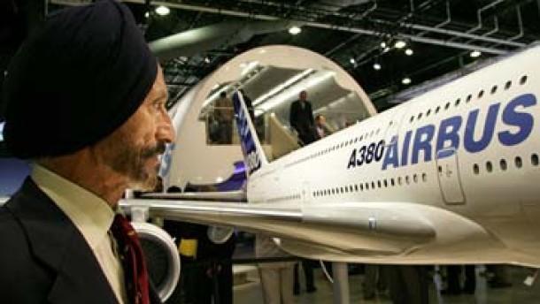 Flugzeughersteller auf dem Indien-Trip