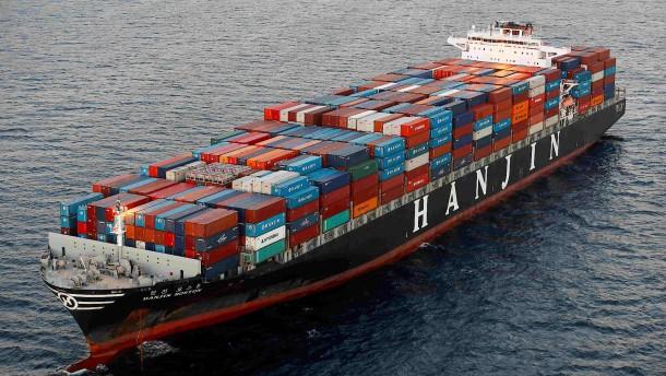 Hanjin erhält Darlehen für Entladung von Schiffen