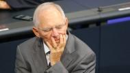 Wolfgang Schäuble am vergangenen Freitag während der letzten Bundestagssitzung vor der Sommerpause.