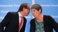 Verkehrsminister und Umweltministerin nach dem Dieselgipfel in Berlin