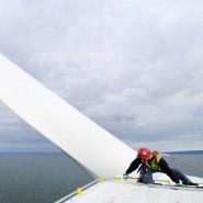 Der Offshore-Windpark North Hoyle westlich von Liverpool