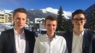 Till, Trevor und Bas auf dem Weltwirtschaftsforum 2018 in Davos