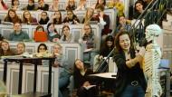 In einer Anatomie-Vorlesung in Halle-Wittenberg