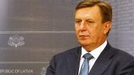 Lettland Ministerpräsident Maris Kucinskis rudert abermals zurück.