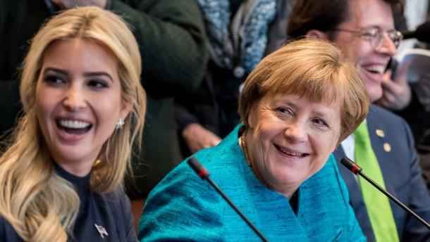 Angela Merkel und die mächtigste Frau des Weißen Hauses