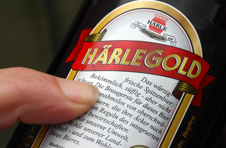 """Eine Flasche Bier der Härle-Brauerei: """"Bekömmlich, süffig - aber nicht schwer"""""""