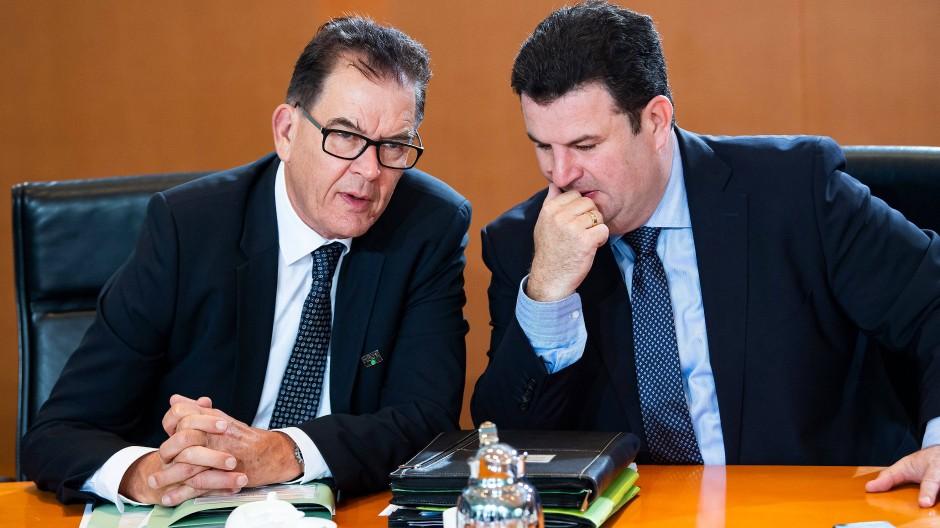 Entwicklungsminister Gerd Müller (CSU) und Hubertus Heil (SPD)