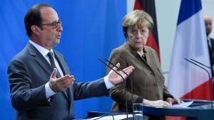 Merkel und Hollande wollen EU-Sanktionen gegen Russland verlängern