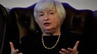 Sie gibt sich optimistisch: Fed-Chefin Janet Yellen