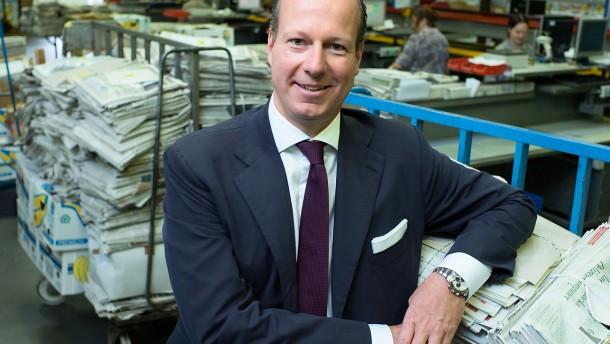 """PVG-Geschäftsführer Thomas Kirschner in der Zentrale in Frankfurt: """"Auf eins dürfen wir uns nicht verlassen: darauf, dass kein anderer unsere Arbeit machen kann"""""""