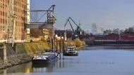 Der Deutzer Hafen heute