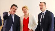 Die Minister Heil, Giffey und Spahn am Dienstag in Berlin