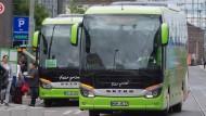 Fernbusse in Frankfurt