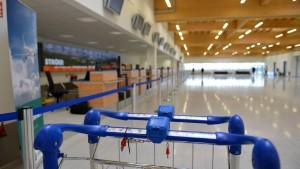 In Kassel-Calden ist noch kein Linienflug abgehoben