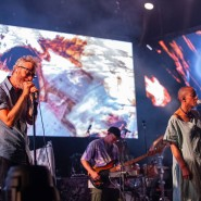 Die amerikanische Indie-Rock-Band The National Mitte Juli 2019 in der Frankfurter Jahrhunderthalle - auch sie haben schon Konzerte verlegen müssen.