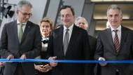 Draghi eröffnet EZB-Neubau