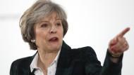 Sie will die Richtung vorgeben: Großbritanniens Premierministerin Theresa May